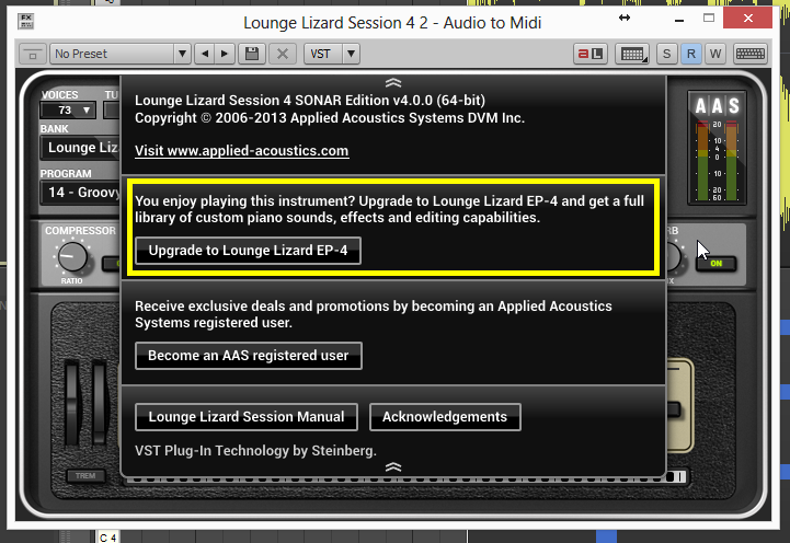 Lounge Lizard 4 VST Crack plus Full Torrent Download